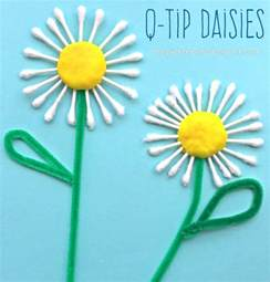 q tip daisy craft the pinterested parent