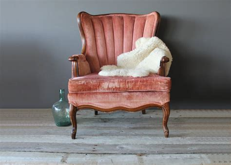 pale pink upholstered chair the gold dig
