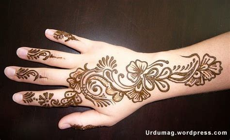 simple arabic mehndi designs for left hand mehndi designs