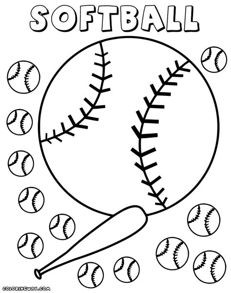 free coloring softball coloring pages coloring pages to and print