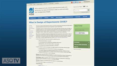 quality tool fmea asqtv quality tool design of experiments asqtv