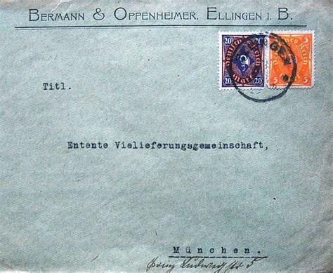 Brief Gtman die synagoge in ellingen kreis wei 223 enburg gunzenhausen