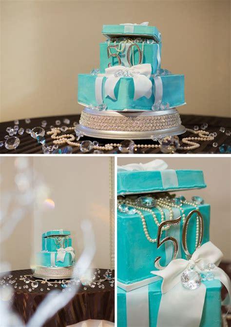 tiffany themed events tiffany inspired 50th birthday party birthday cakes