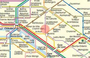 chemin vert station map metro