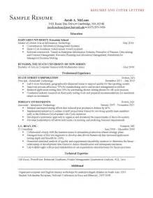 Harvard Business School Resume Template by Professional Resume For Mba Admission