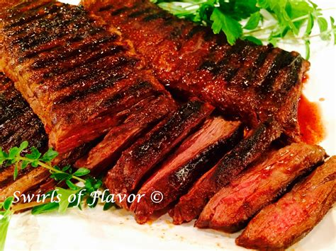 grilled skirt steak with cocoa spice rub swirls of flavor