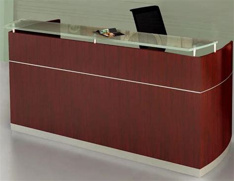 Napoli Reception Desk Napoli Reception Desk With Floating Glass Transaction Counter