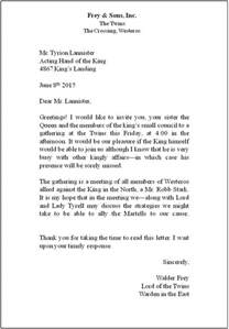 lesson 7 business letters