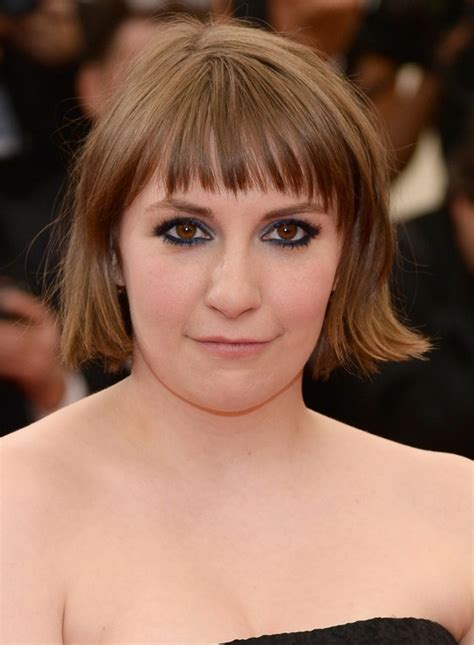 lena dunham short hair lena dunham short haircut with blunt bangs styles weekly