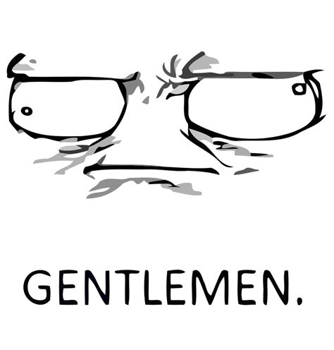 Gentlemen Meme Face - skype meme