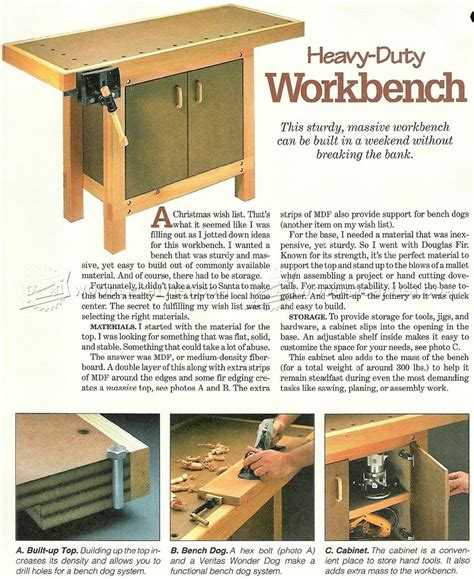 small woodworking bench plans small workbench plans woodarchivist
