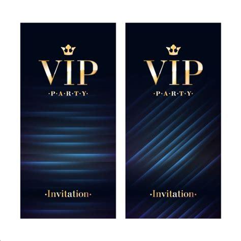 luxury vip invitation cards template vector 03 vector