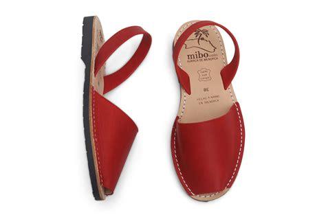 mibo menorquinas mibo avarcas red menorcan sandals the avarca store