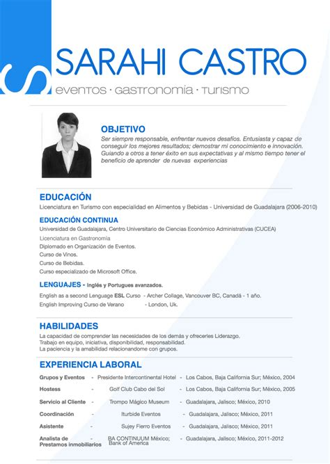 Example Of Online Resume by Spanish Cv Sarahicastro