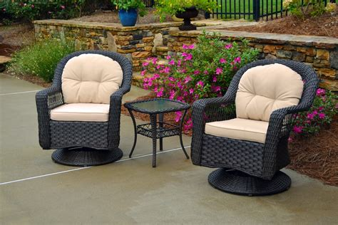 Biloxi 3pc Wicker Bistro Set   Tortuga Outdoor