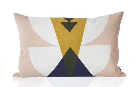 Cushion Cover Blush Navy Series dotty bedding in yellow design by ferm living