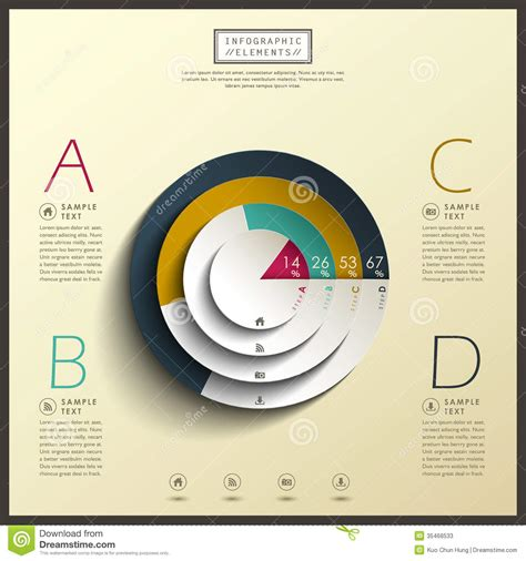 abstract 3d pie chart infographics stock vector image