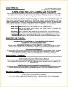 Sample Resume For Electronics Technician electronic technician resume microsoft word jk electronics repair
