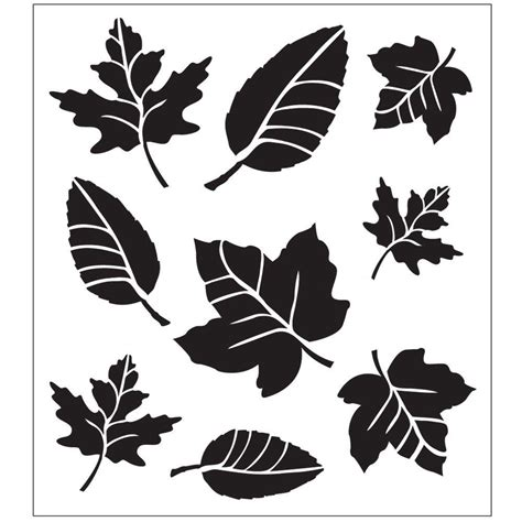 Painting Templates Stencils folkart leaf variety painting stencils 30731 the home depot
