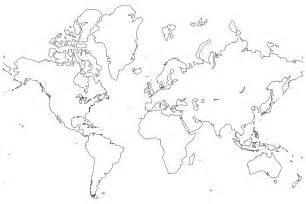 Black And White World Map by Black And White World Map