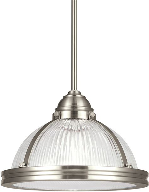 Brushed Nickel Mini Pendant Light Fixture Seagull 65060en 962 Pratt Prismatic Modern Brushed Nickel Led Mini Pendant Light Fixture
