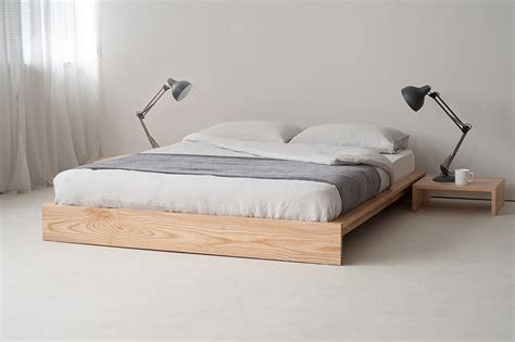Japanese Style Bed Frames Furniture Japanese Bedroom Style Design Idea With Wood Floating Bed Frame With No Headboard
