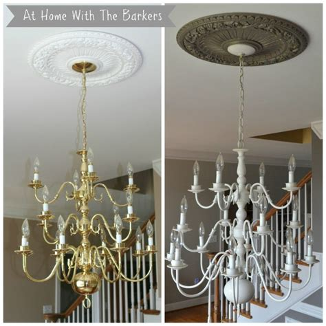 chandelier makeover chandelier makeover at home with the barkers