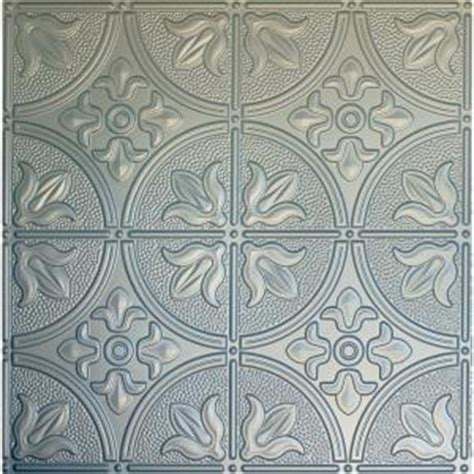 home depot tin ceiling tiles global specialty products dimensions 2 ft x 2 ft nickel