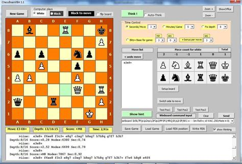 chessbrainvb winboard chess engines