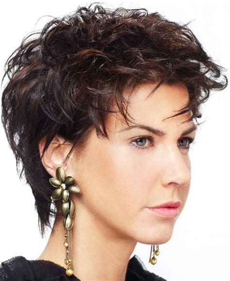 haircuts for curly thick hair and round faces cute short hairstyles for round faces flattering cute