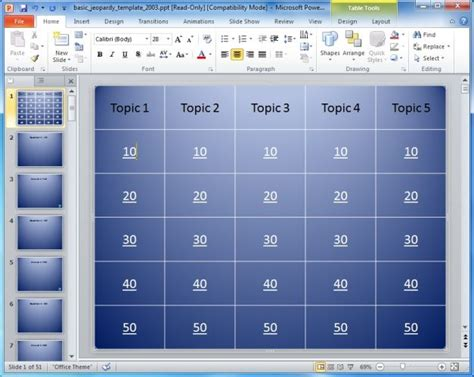 An Interesting Insight On Jeopardy Powerpoint Games Free Jeopardy Template For Teachers