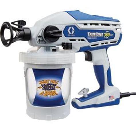 home depot paint sprayer rental price graco truecoat 360dsp airless paint sprayer 16y386 the