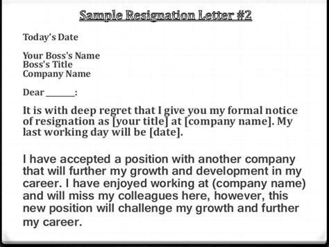 Resignation Letter Career Growth Resignation Letter Powerpoint