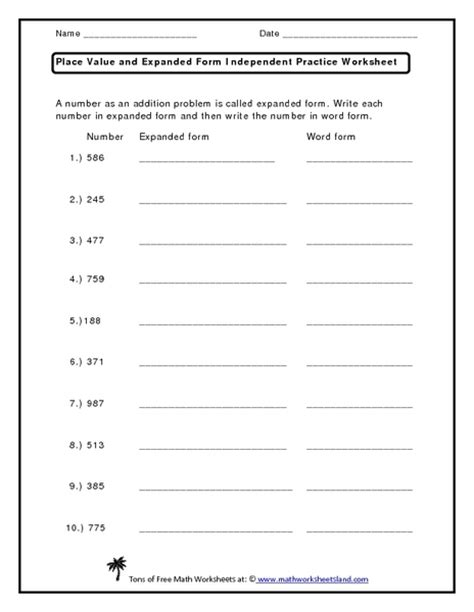 Writing Numbers In Expanded Form Worksheets by All Worksheets 187 Expanded Form With Decimals Worksheets