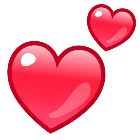 emoji heart two hearts emoji for facebook email sms id 12940
