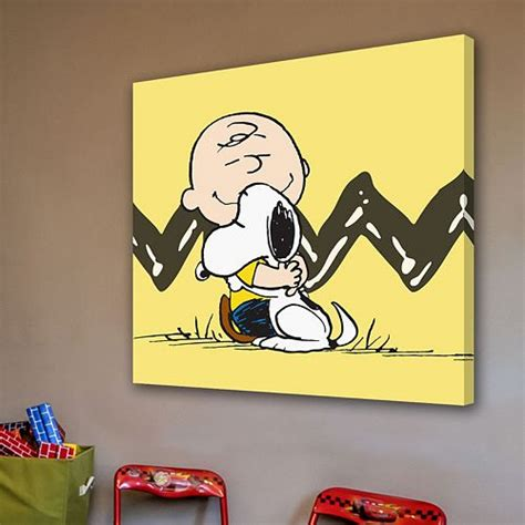 wandtattoo kinderzimmer snoopy marmont hill peanuts brown snoopy canvas wall