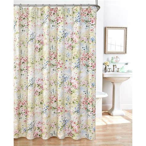 Cloth Shower Curtains Giverny Fabric Plisse Shower Curtain Set Ebay