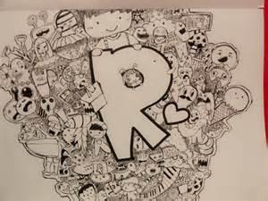 doodle huruf doodle ramallia