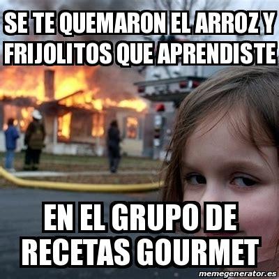 Disaster Girl Meme Generator - meme disaster girl se te quemaron el arroz y frijolitos