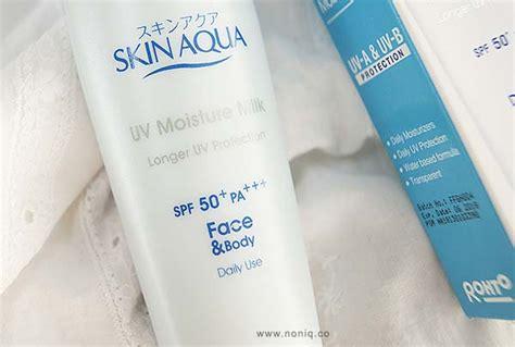 Pelembab Ber Spf Review Skin Aqua Uv Moisture Milk Spf50 Pa Noniq A