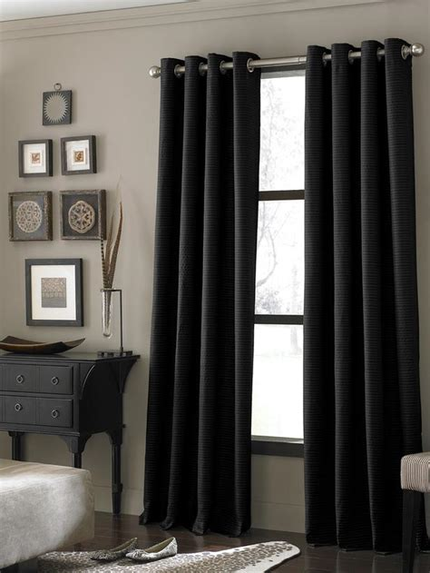 Black Window Treatments 4 Kinds Of Black Window Curtains