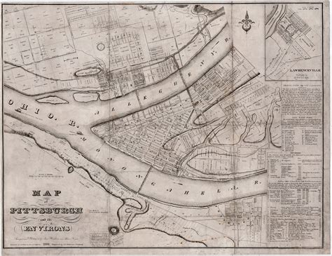 early maps and early map of pittsburgh antique maps