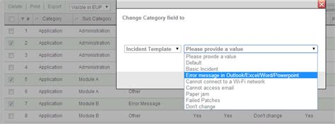 subcategory template category settings