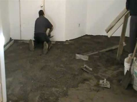 Packed Floor by How To Level A Floor With Pack Concrete 4 Of 9