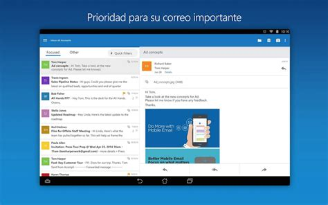 microsoft outlook for android microsoft outlook para android la aplicaci 243 n de correo oficial