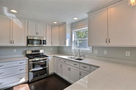 Kitchen Cabinets And Counters Custom White Painted Mission Style Cabinets From B Amp B