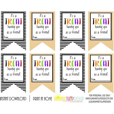 free printable gift tags for halloween treats printable halloween gift tags it s a treat having you as