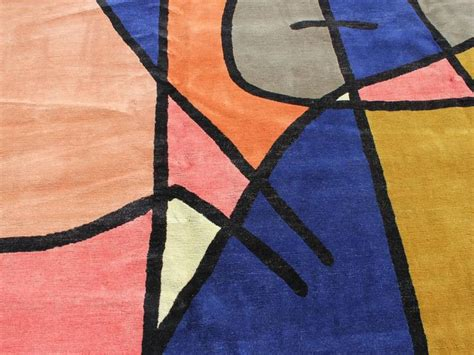 Modern Abstract Rugs Large Contemporary Abstract Wool Rug At 1stdibs