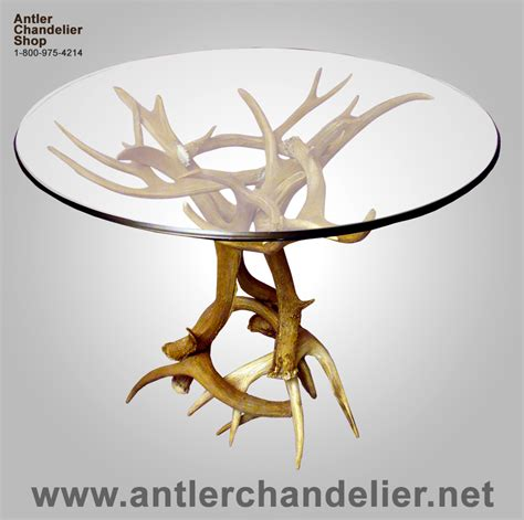 Antler Table by Antler End Table Antler Table Deer Antler Table Kura