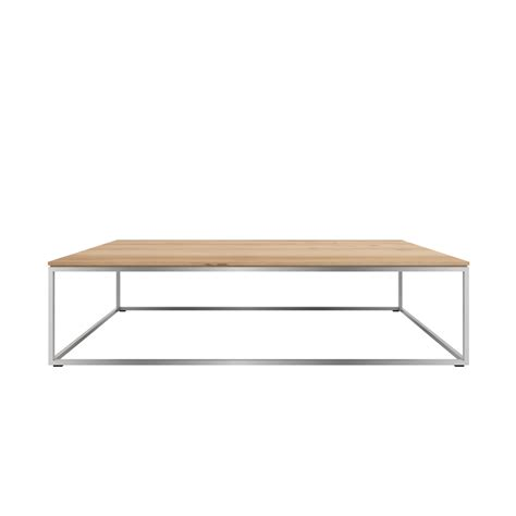 Metal Frame Coffee Table Tge 050525 Oak Thin Coffee Table Stainless Steel Frame 120x70x30 Ethnicraft